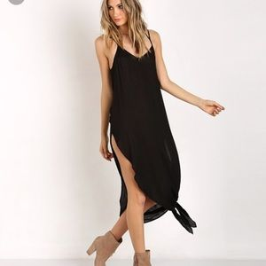 Free People Go to Gauze knotted tie up slip XS